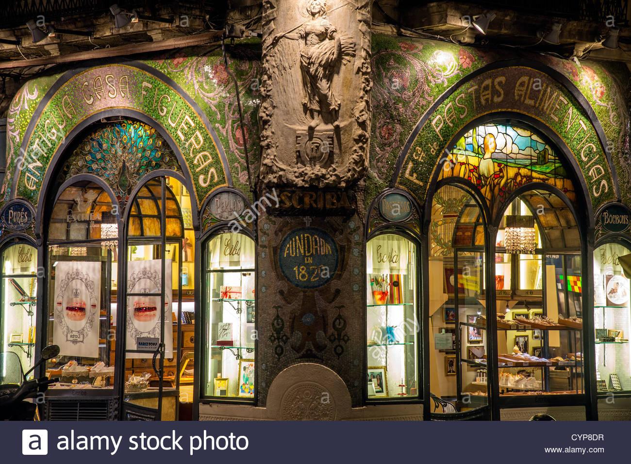 Art nouveau decoration at Antigua Casa Figueras, home of Escriba ...