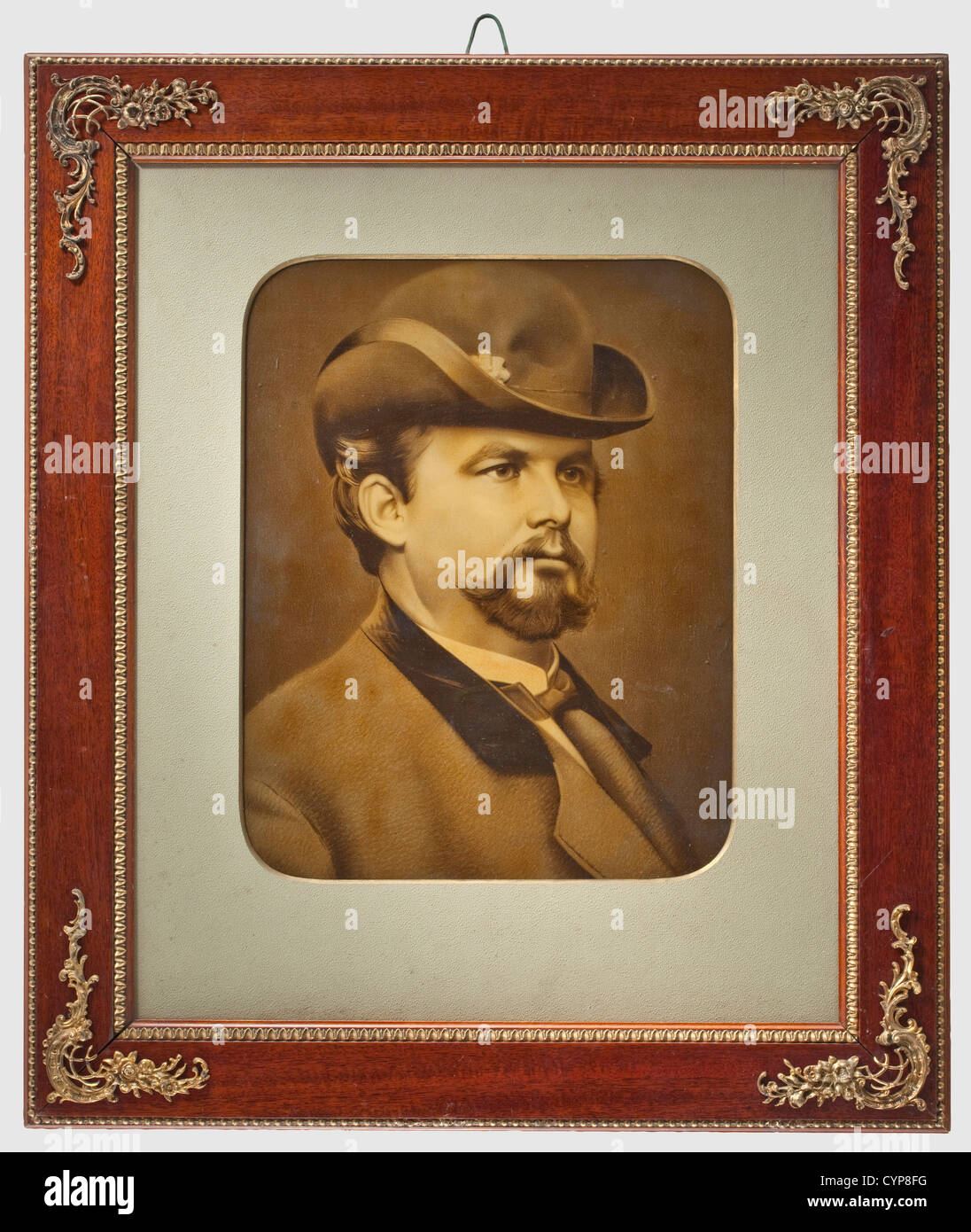 King Ludwig II of Bavaria - a large-sized portrait photograph, (heliogravure) dating from circa 1875. The king in - Stock Image