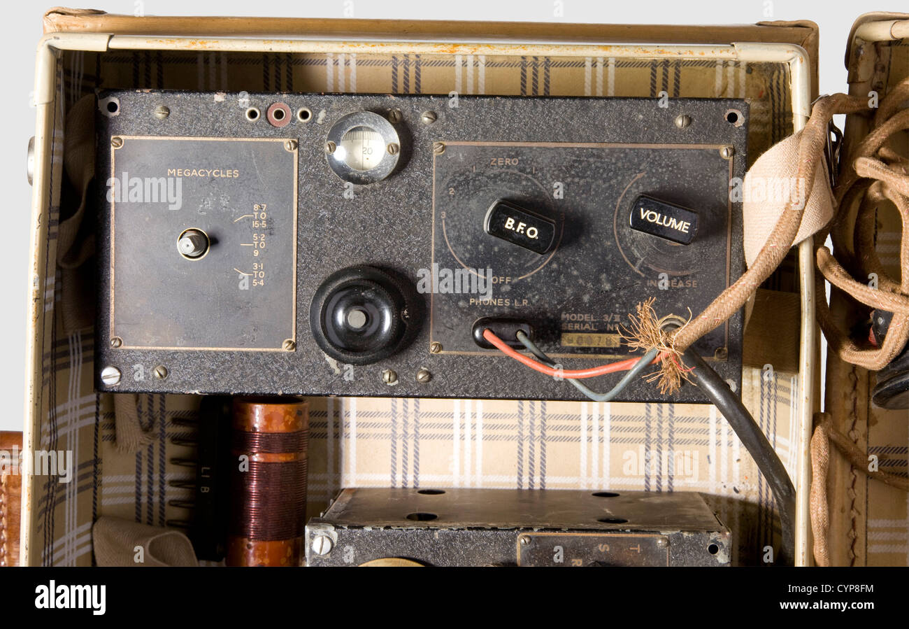 A radio 3 MKII ('B2') of the British Special Operation Executive (SOE), from the Second World War. Consisting - Stock Image