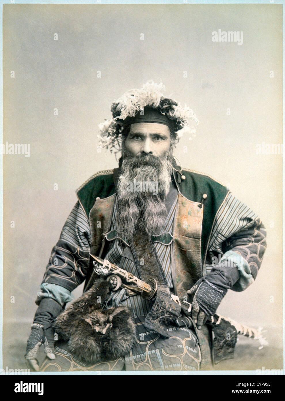Samurai Warrior, Circa 1880 - Stock Image