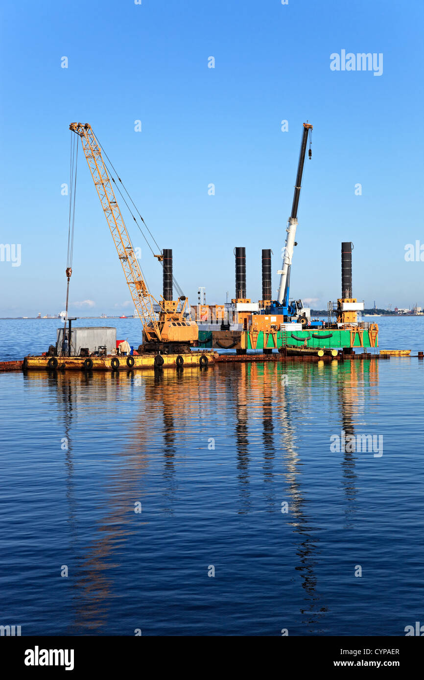 Specialized equipment for water works engineering. - Stock Image