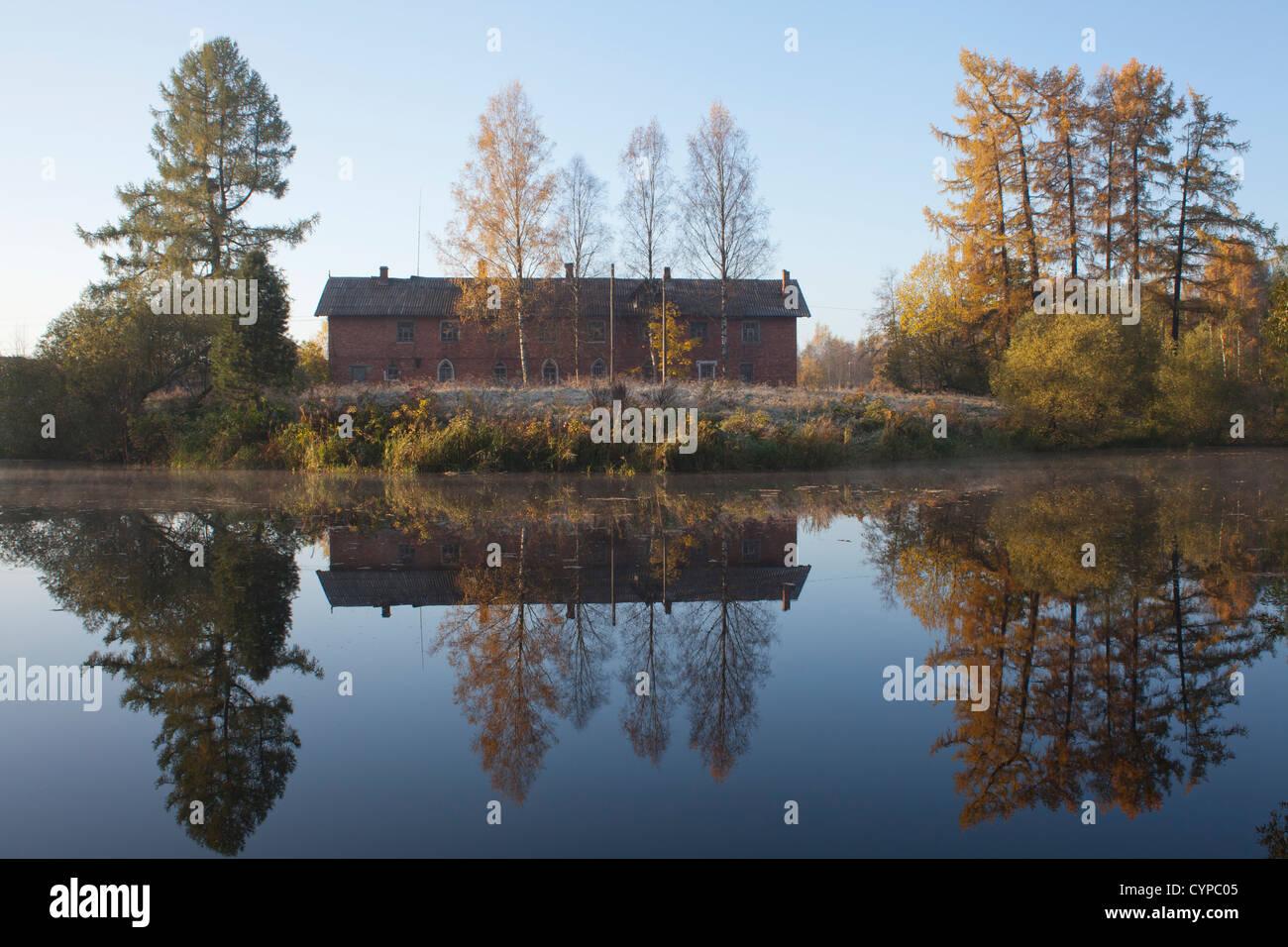 Priyutino, Leningrad Oblast, Russia. - Stock Image