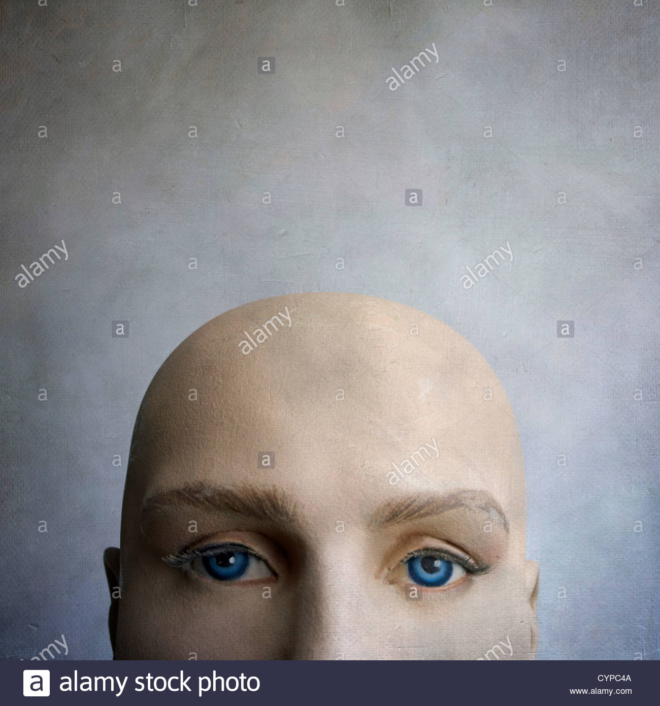 Male Mannequin faces - Stock Image