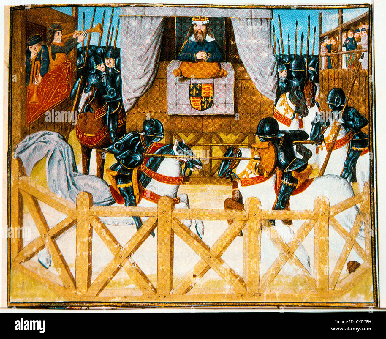 Tournament at Smithfield, England, Before King Richard II, 1394 - Stock Image