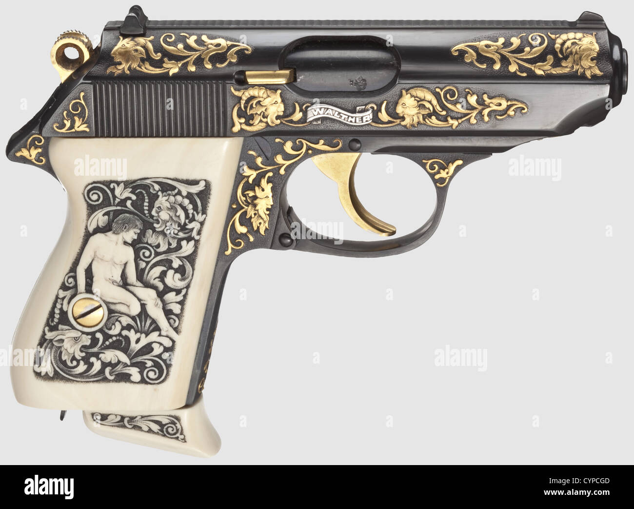Walther PPK luxury model, 7.65 mm cal, no. 50. Bright bore. Proof ...