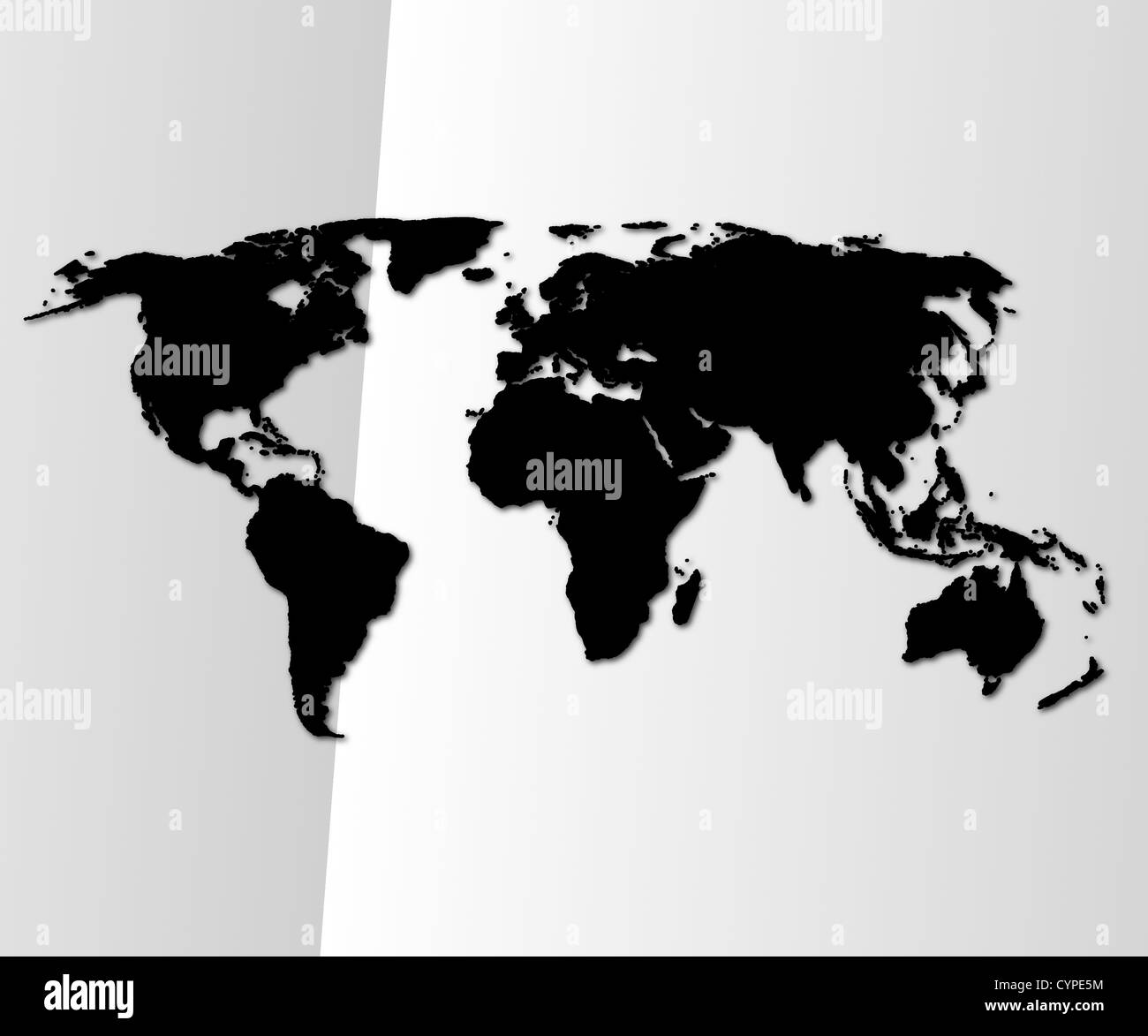 global economy or business concept with world map or globe - Stock Image