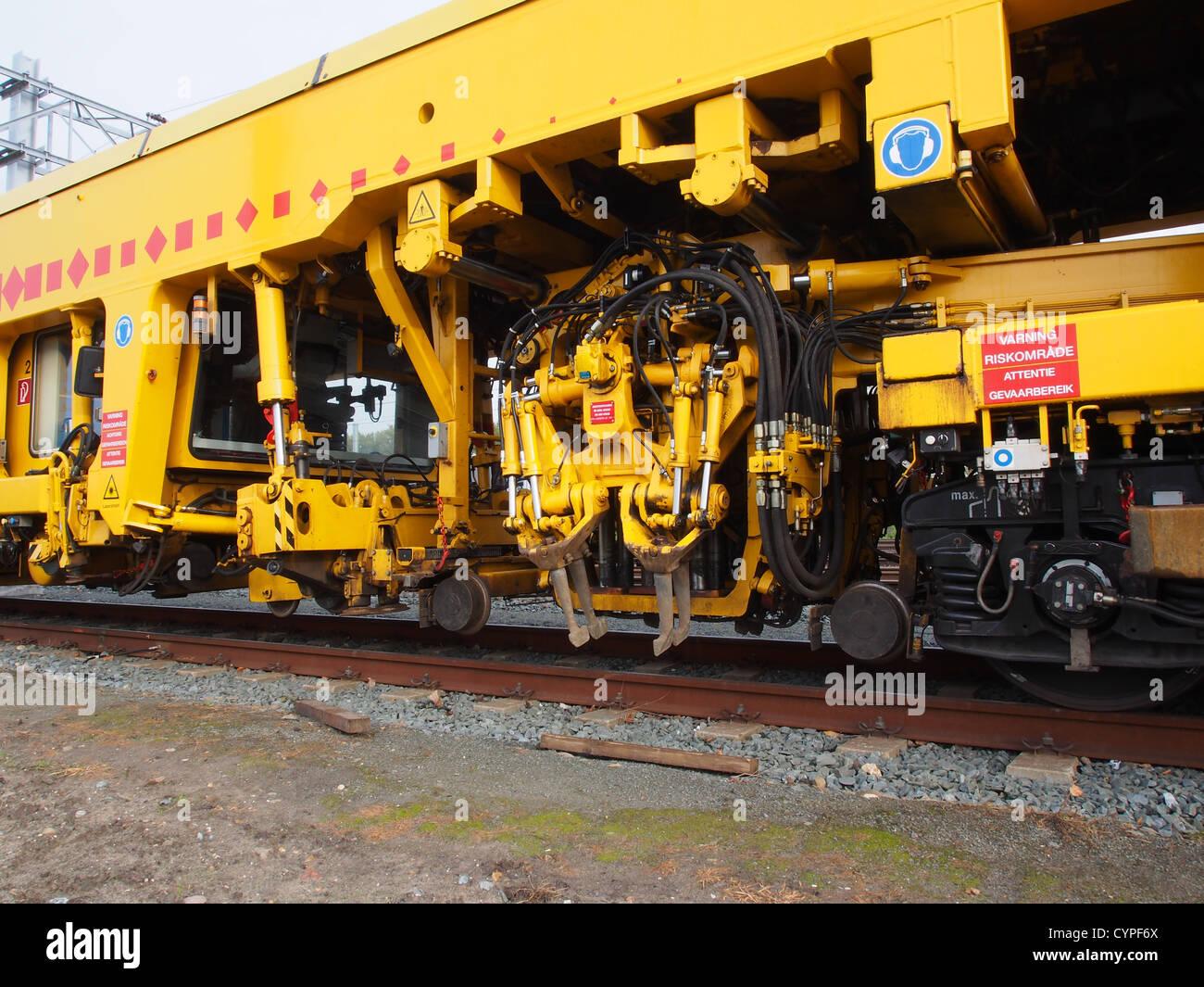 train repair track Strukton Rail 08-475-4S Stock Photo
