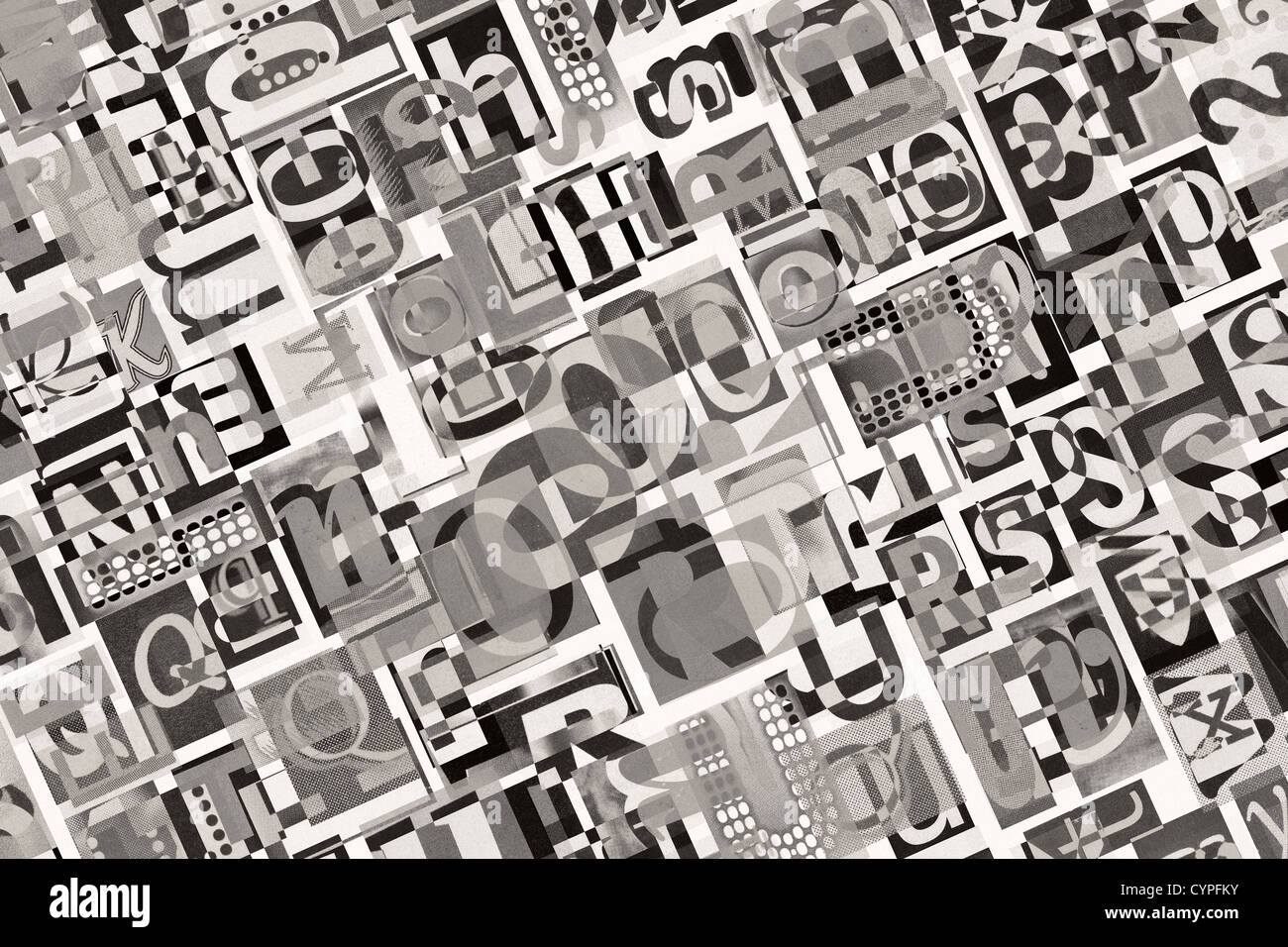 Designed background. Digital collage made of newspaper clippings.  - Stock Image