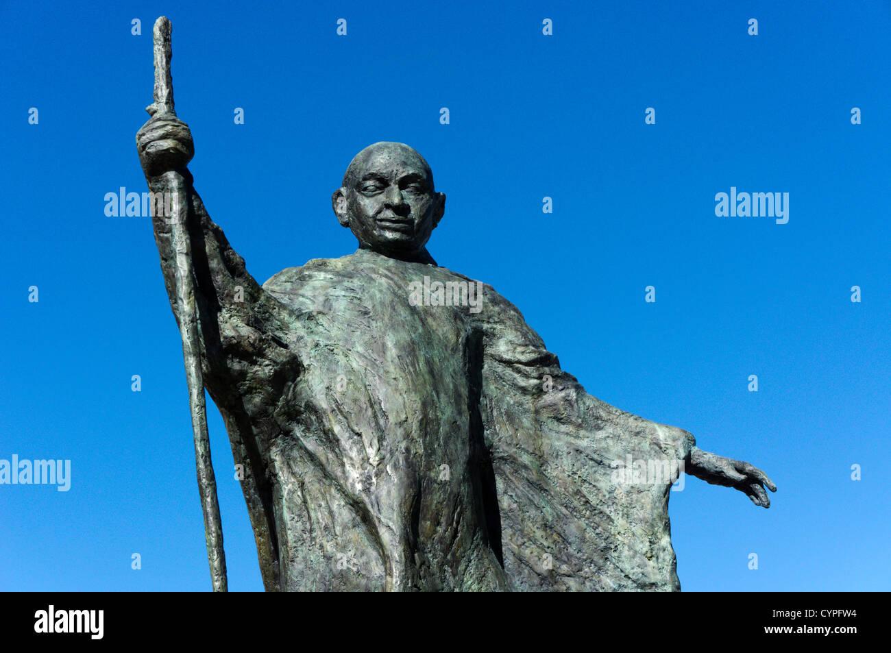 A statue of Mahatma Gandhi. - Stock Image