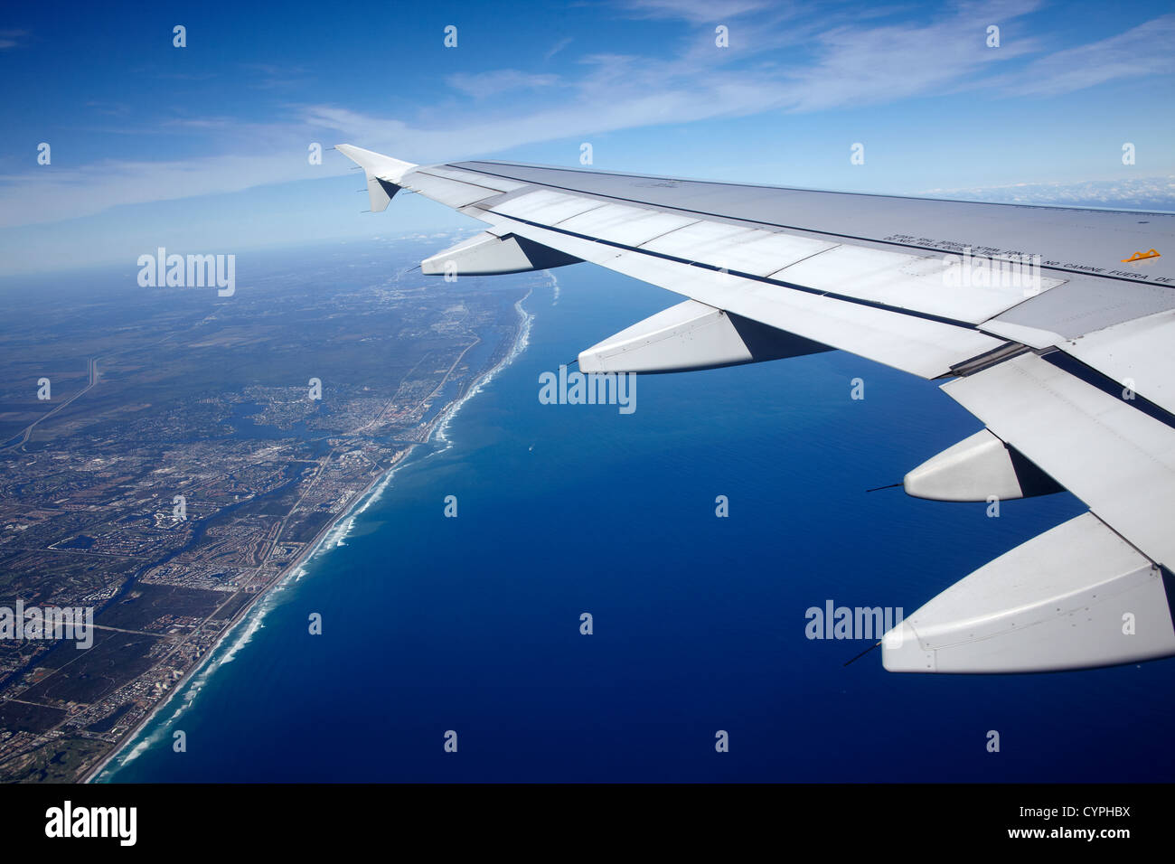 Airplane wing - Stock Image