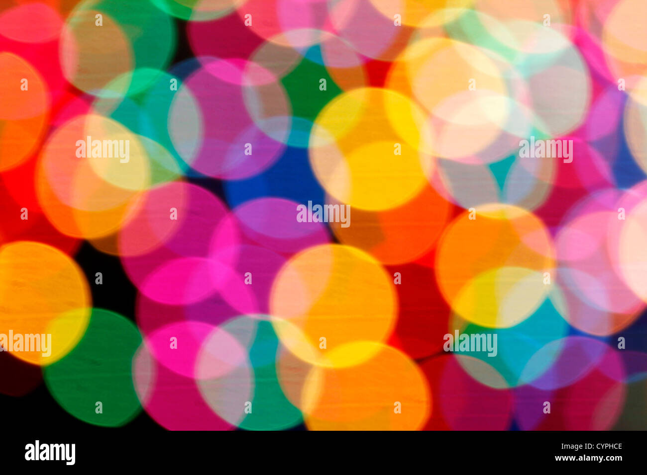 Abstract out-of-focus lights - Stock Image