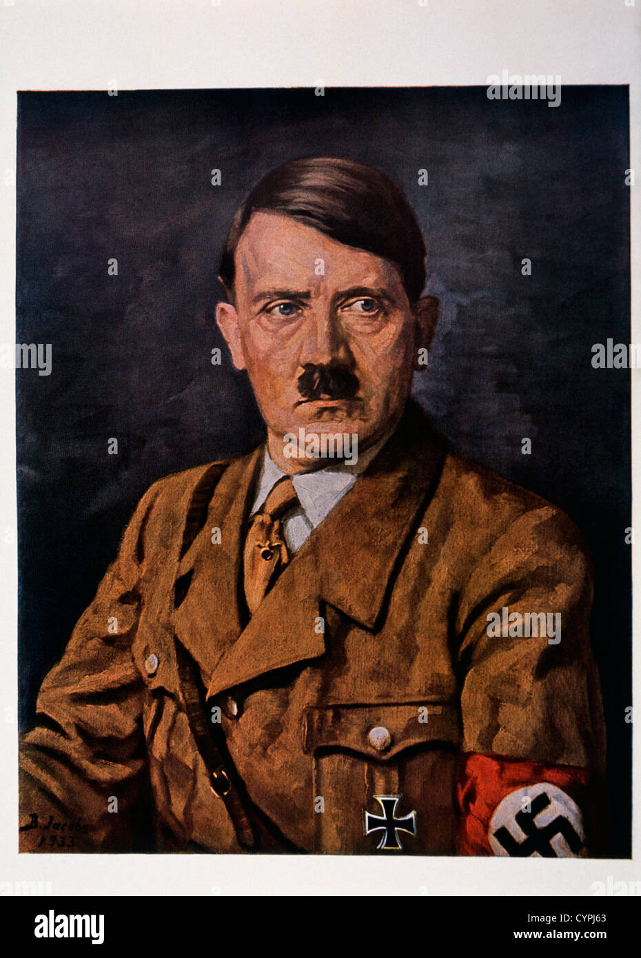 Adolf Hitler, Portrait, Painting, 1933 Stock Photo