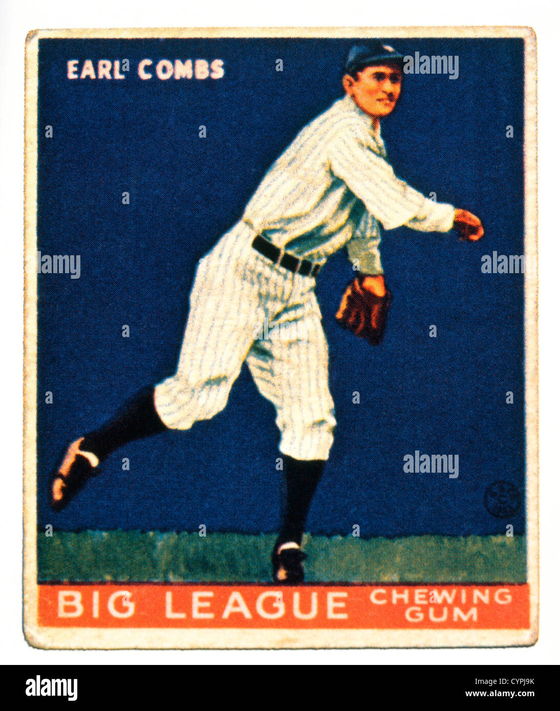 Earl Combs, New York Yankees, Trade Card - Stock Image