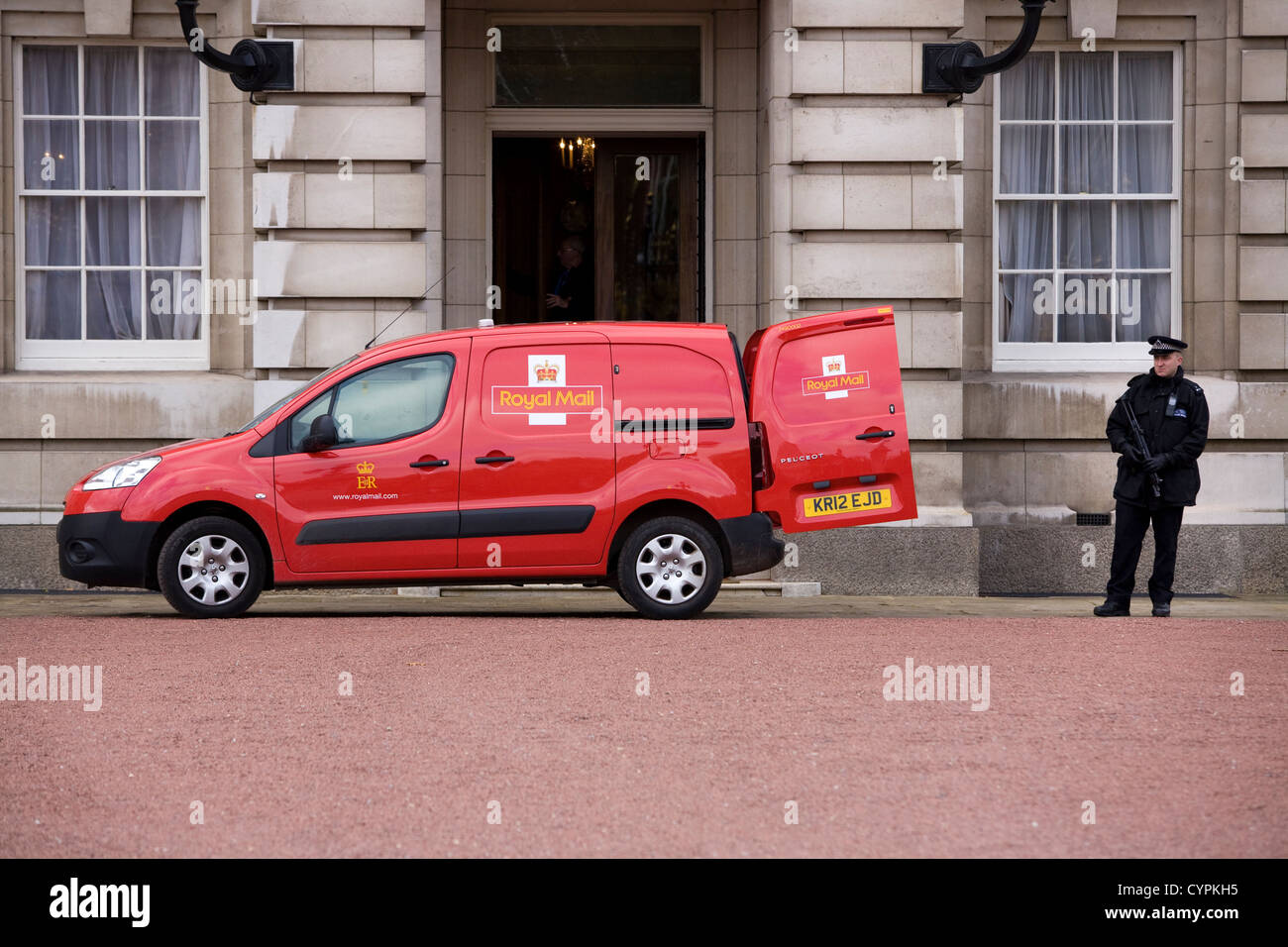 Postal Post Office Delivery Van At Buckingham Palace