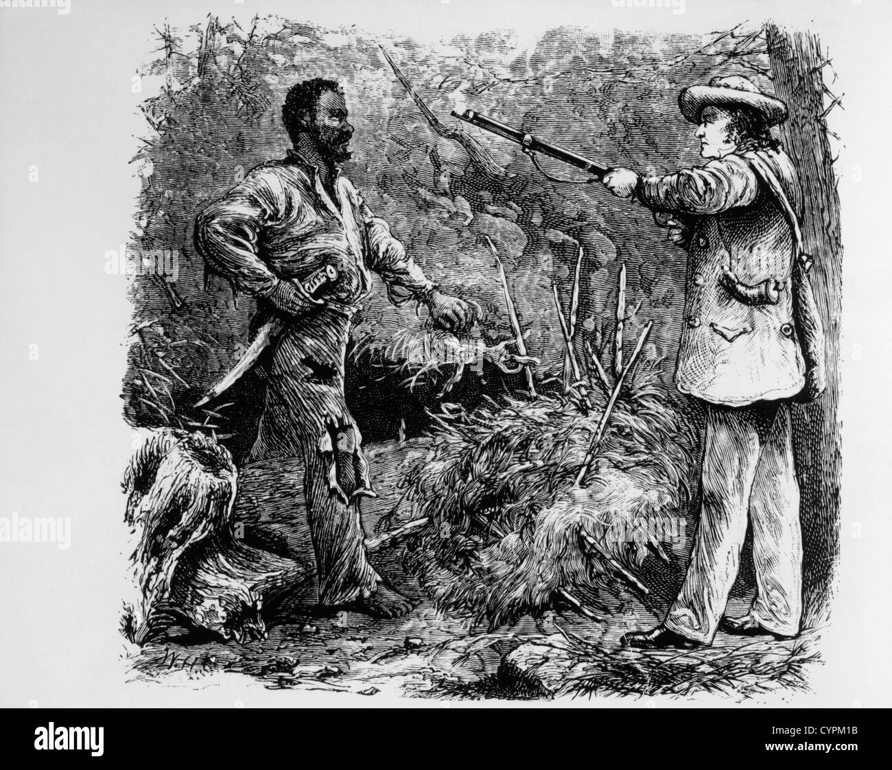 capture of nat turner after the southampton insurrection etching