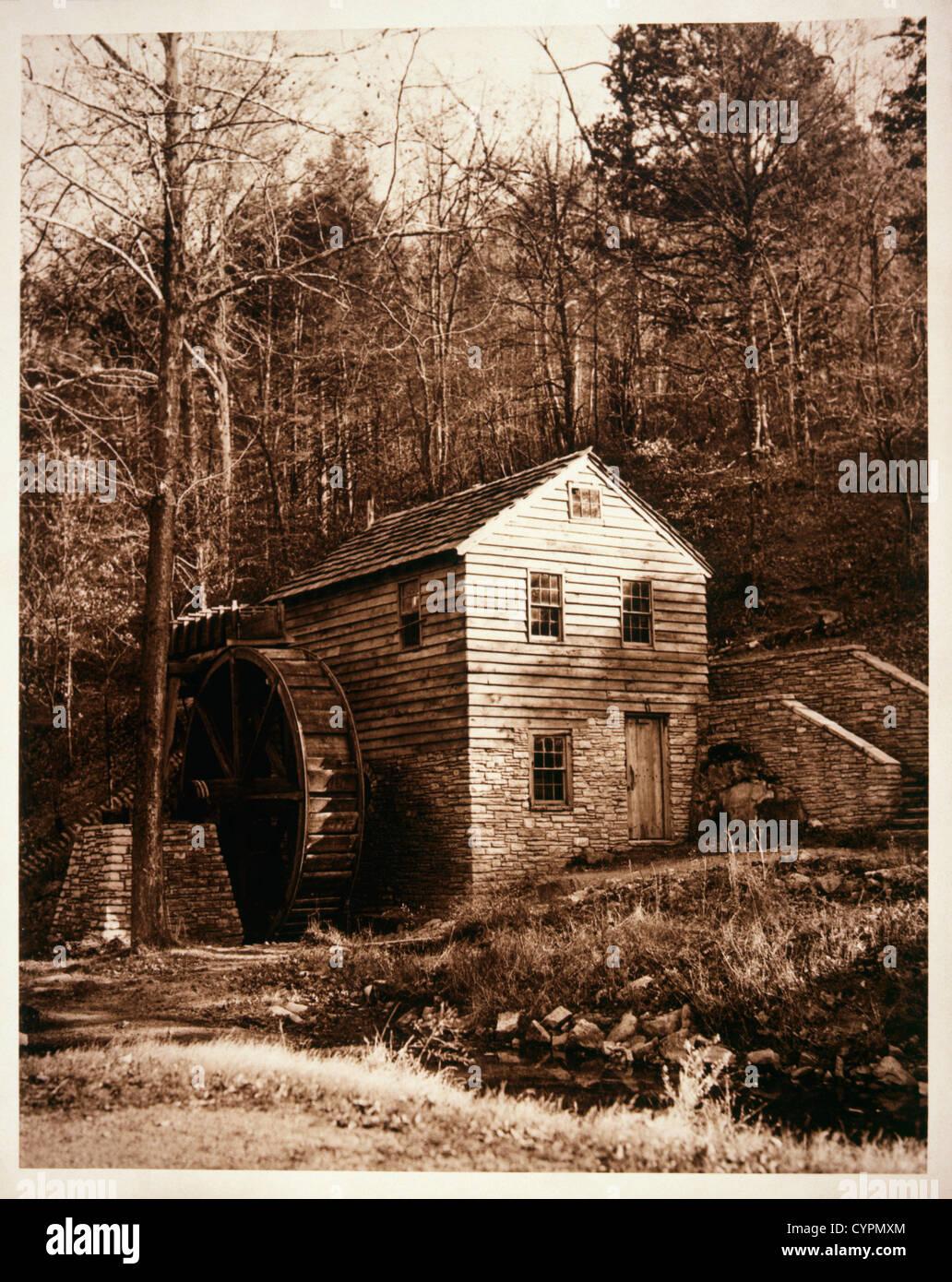 Old Mill, Circa 1900 - Stock Image