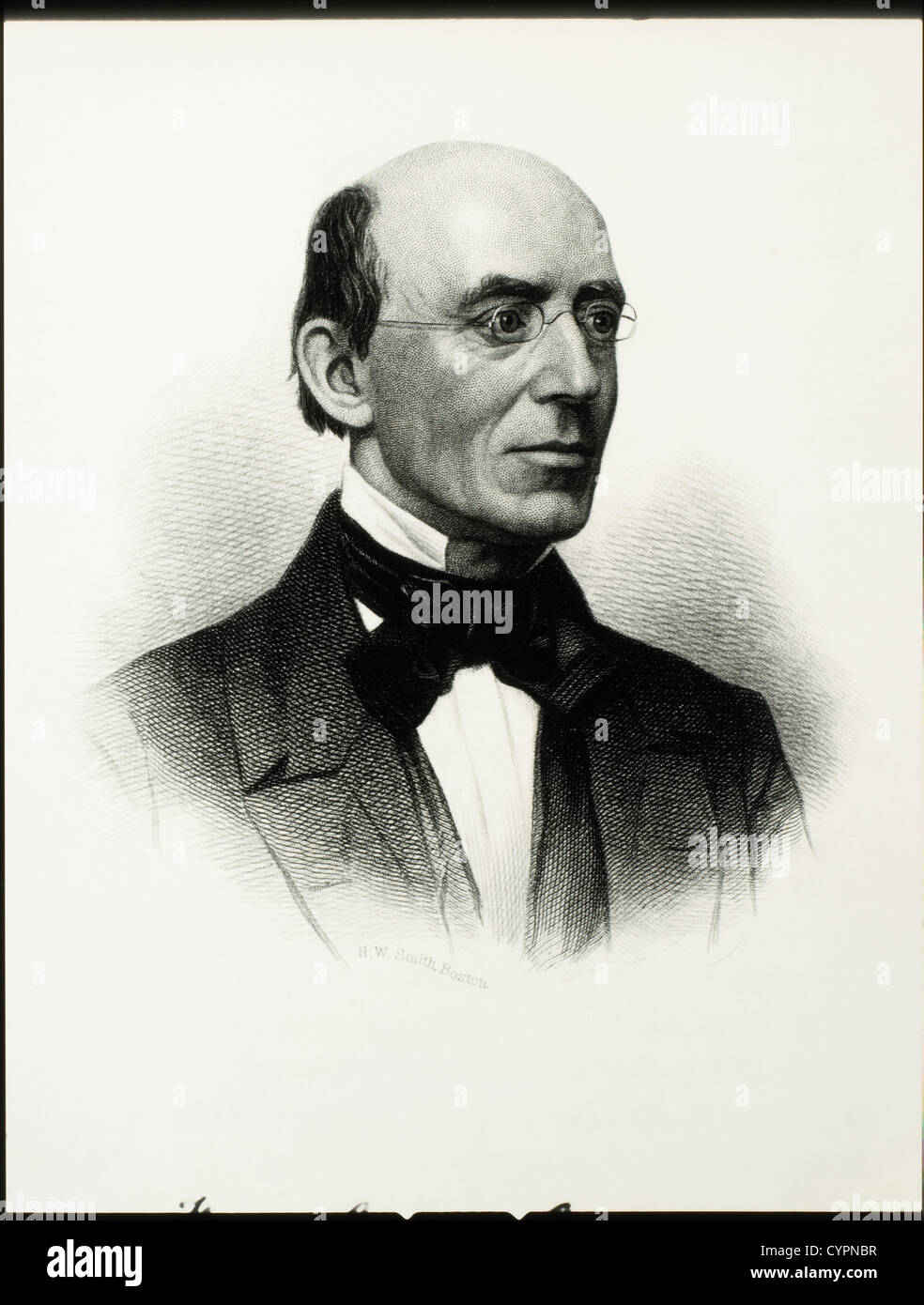 William Lloyd Garrison (1805-1879), Abolitionist and Publisher - Stock Image