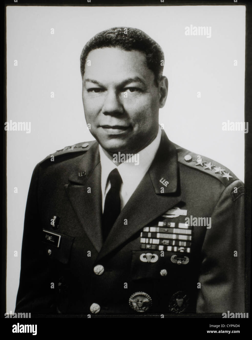 Colin Powell, Chairman of Joint Chiefs of Staff, 1989-1993, Highest US Military Position in Department of Defense - Stock Image