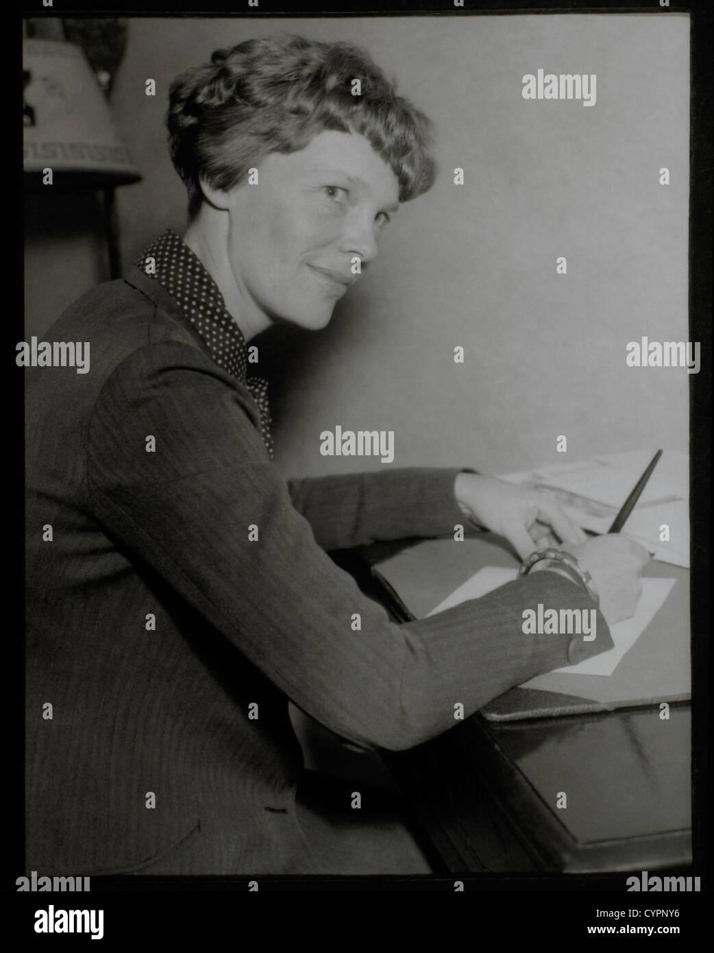 Amelia Earhart, Portrait, Circa 1930's Stock Photo
