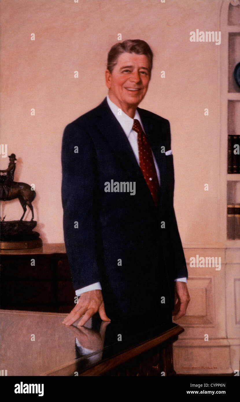 Ronald Reagan (1911-2004), 40th President of the United States, Portrait - Stock Image