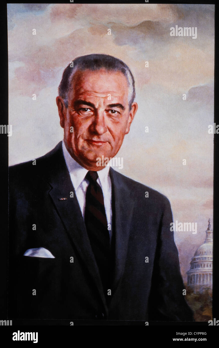 Lyndon B. Johnson (1908-1973), 36th President of the United States, Official Presidential Portrait Stock Photo