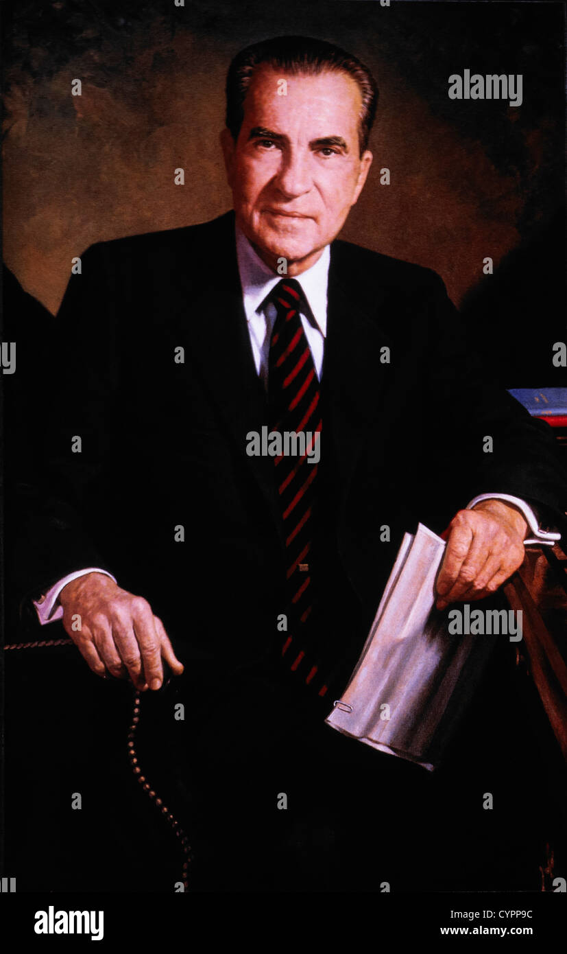 Richard M. Nixon (1913-1994), 37th President of the United States, Official Presidential Portrait - Stock Image