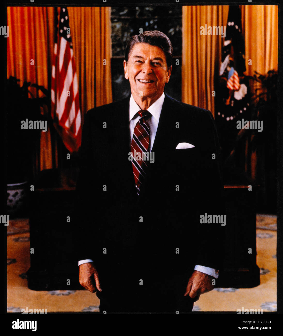 Ronald Reagan (1911-2004), 40th President of the United States, Portrait, 1981 - Stock Image