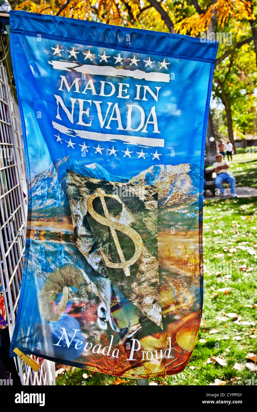 Banner 'Made In Nevada'. - Stock Image