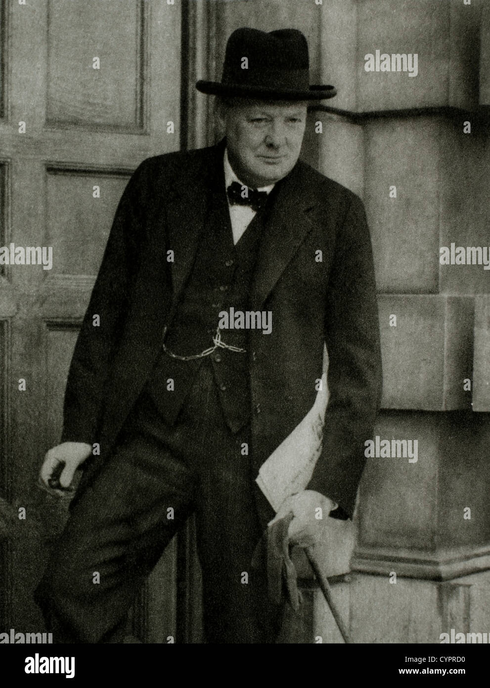 Winston Churchill (1874-1965), British Statesman, Soldier & Author, Prime Minister of Great Britain 1940-45 - Stock Image