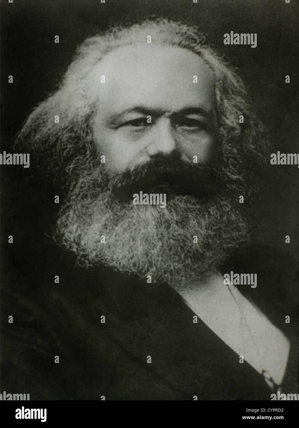 Karl Marx (1818-1883), German Philosopher,1875, Portrait - Stock Image