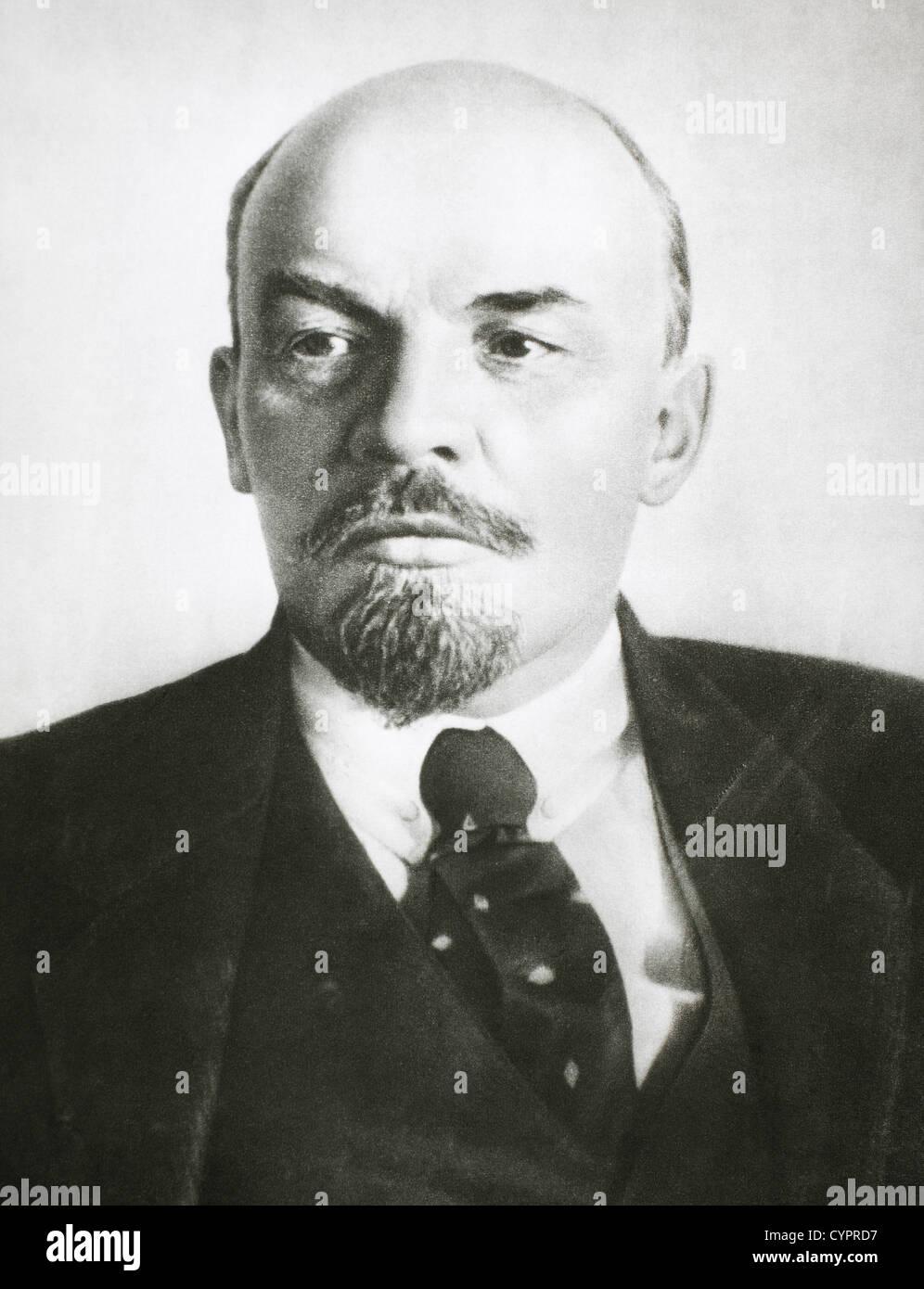 Vladimir Ilyich Lenin (1870-1924), Russian Revolutionary, Founder of the Bolshevik Party, and Premier of the Soviet - Stock Image