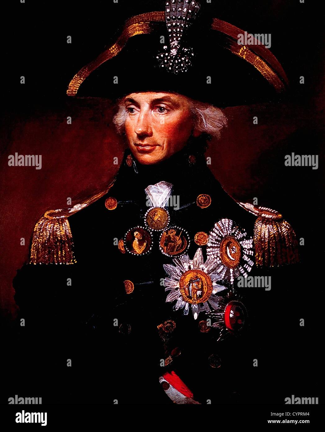 Horatio Nelson (1758-1805), British Admiral, Portrait by Lemuel Francis Abbott, 1798 - Stock Image