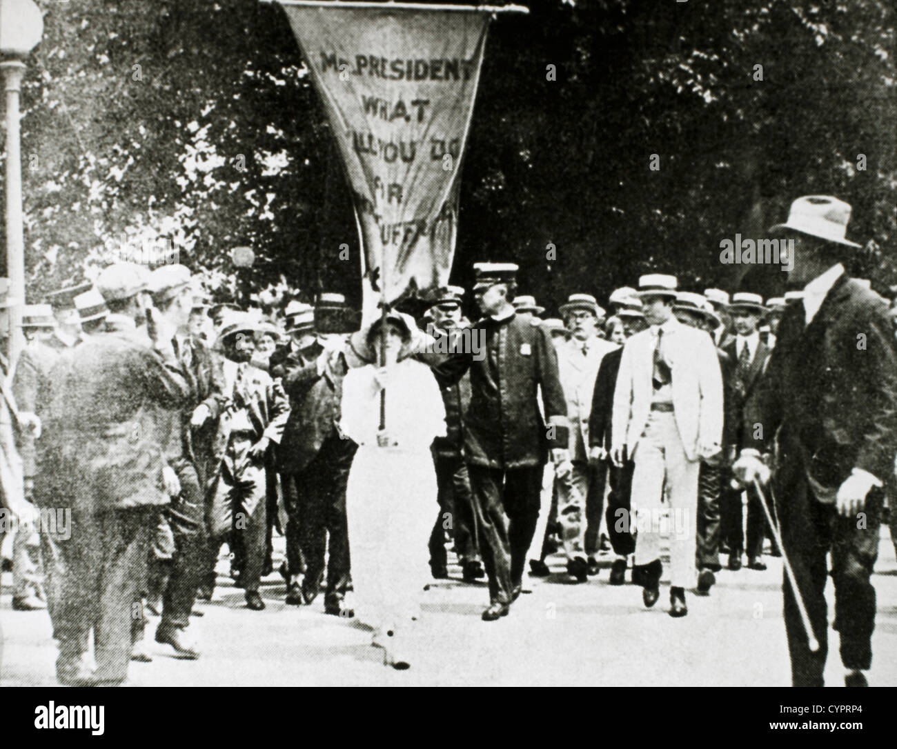 Mabel Vernon, Suffragist, Marching to White House, Washington DC, USA, 1917 - Stock Image