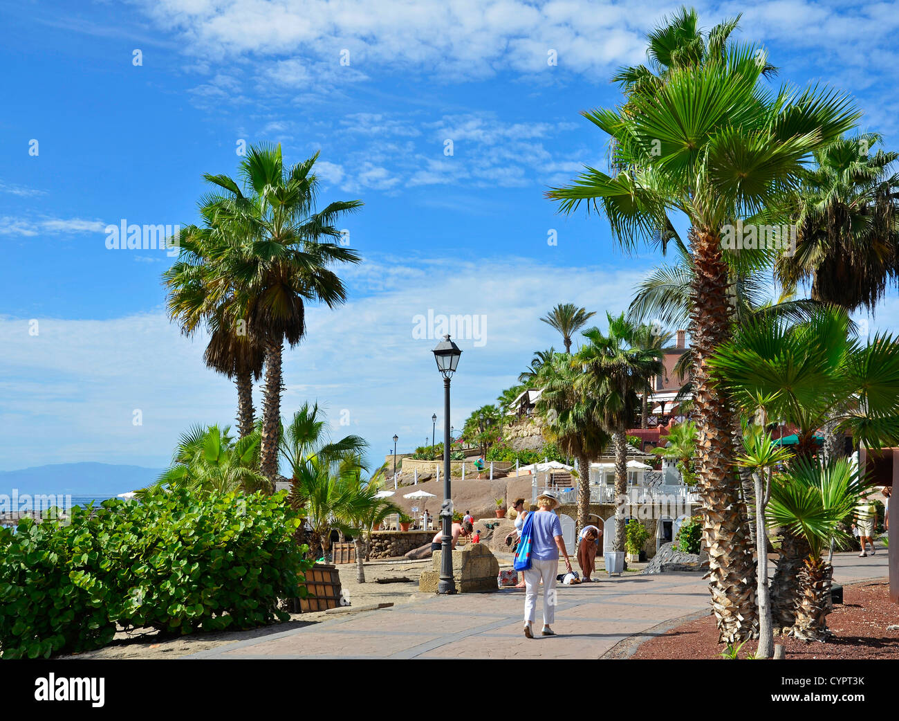 The resort of Bahia Del Duque on the Costa Adeje in Tenerife, Canary Islands - Stock Image