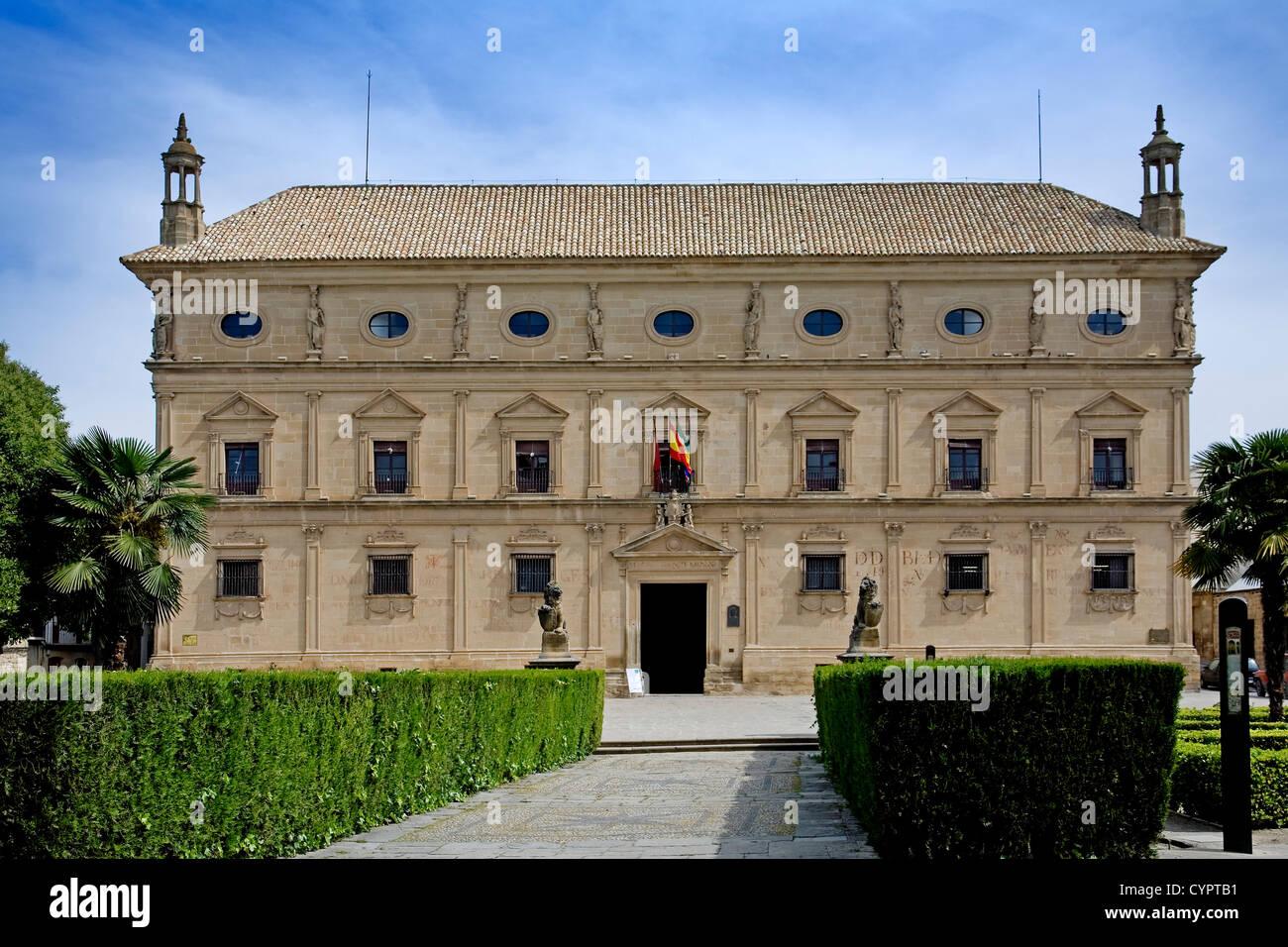 ubeda chains Palace World Heritage jaen Andalusia Spain palacio de las cadenas ubeda patrimonio de la humanidad - Stock Image
