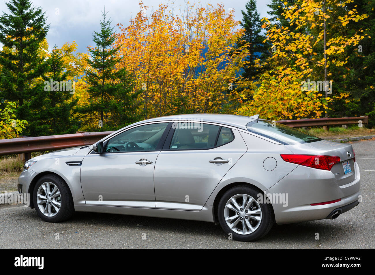 A 2012 model Kia Optima car, Washington state, USA - Stock Image