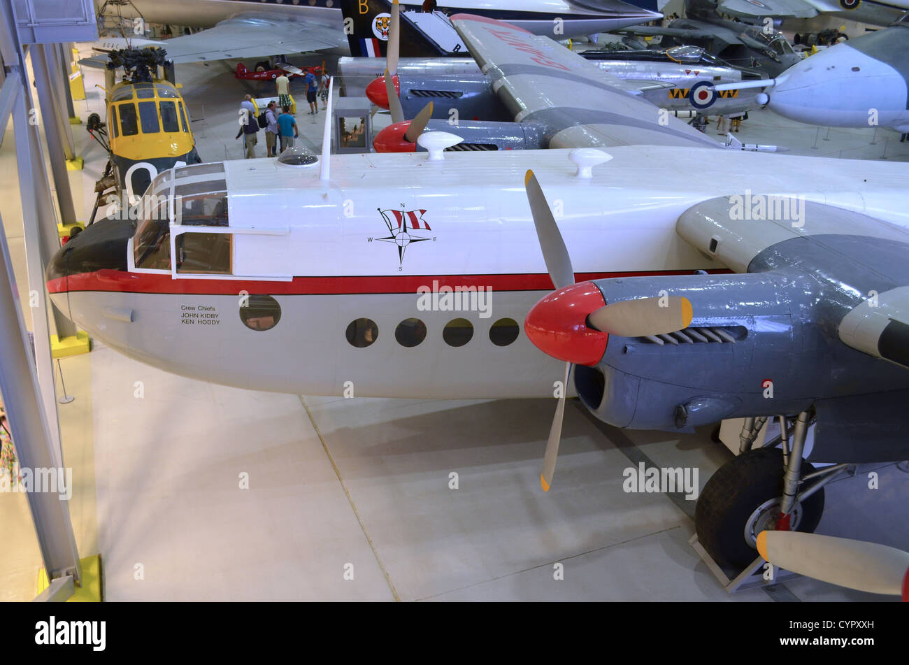 Avro York on display at Duxford Airspace - Stock Image
