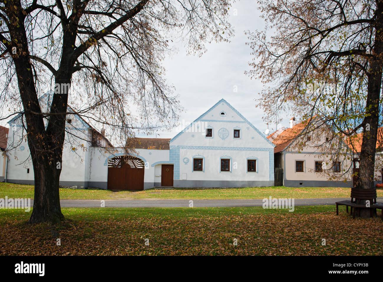 Holasovice - rural Bohemian village, UNESCO world heritage site, South Bohemia, Czech Republic - Stock Image
