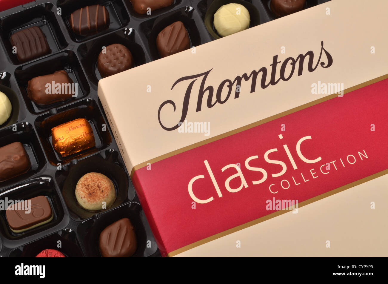 Box of chocolates - Thorntons Classic Collection - Stock Image