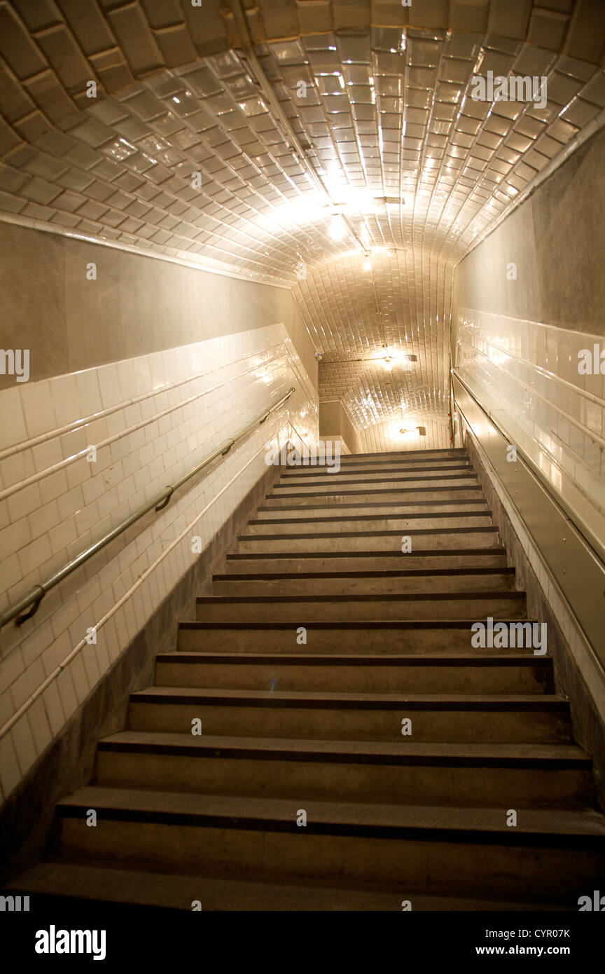 1919 chamberi underground station public free open access in madrid spain - Stock Image