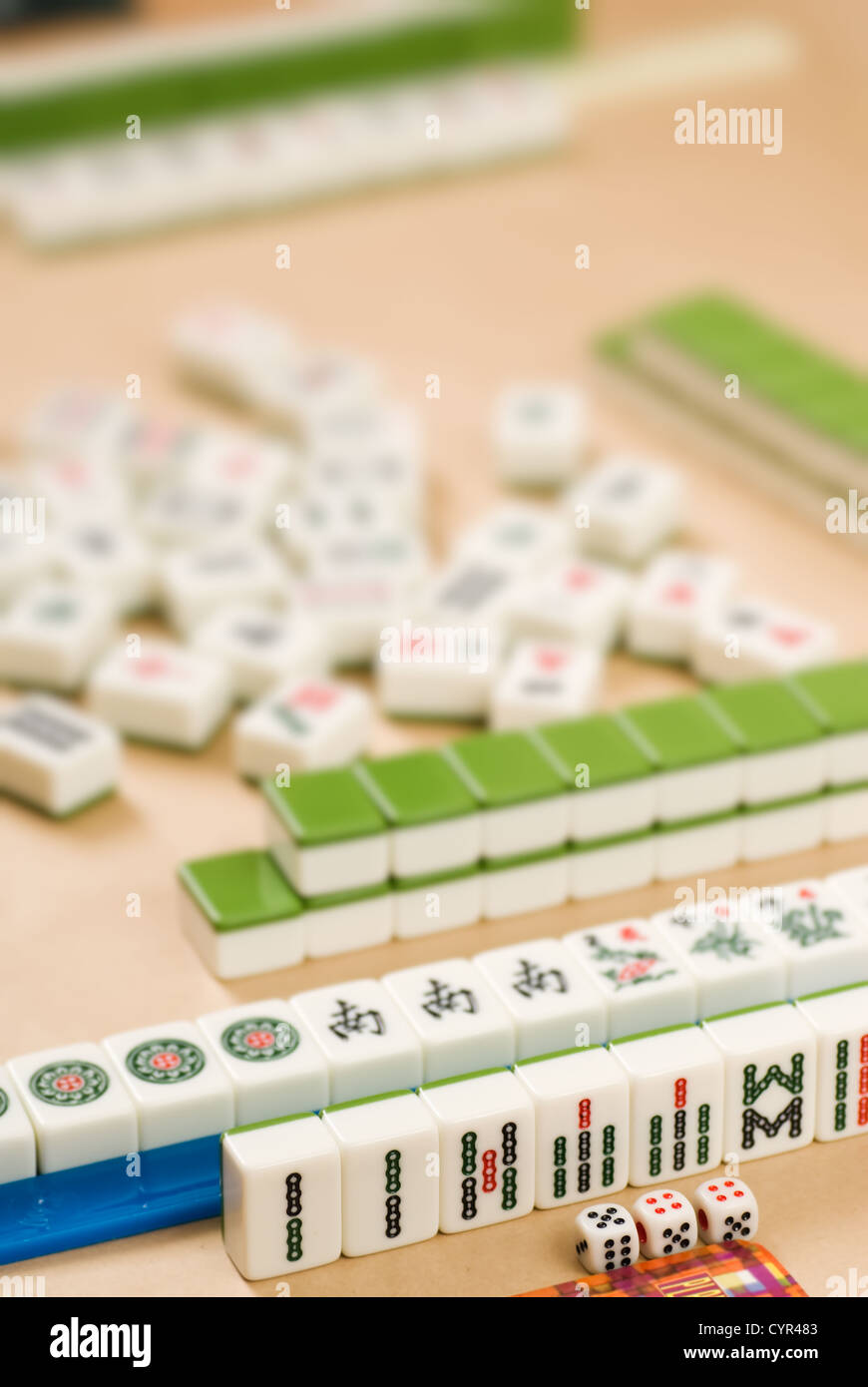 Gambling In Chinese V Mahjong V Traditional Game With