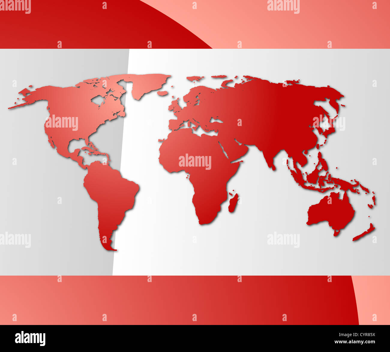 global technology concept with world map and copyspace - Stock Image