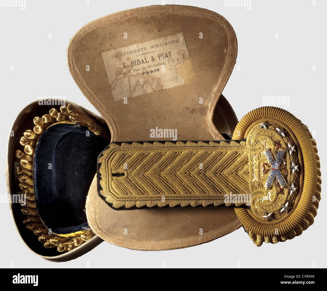 Marshal Philippe Pétain (1856 - 1951), his personal parade epaulettes Model 1872 epaulettes for French field - Stock Image