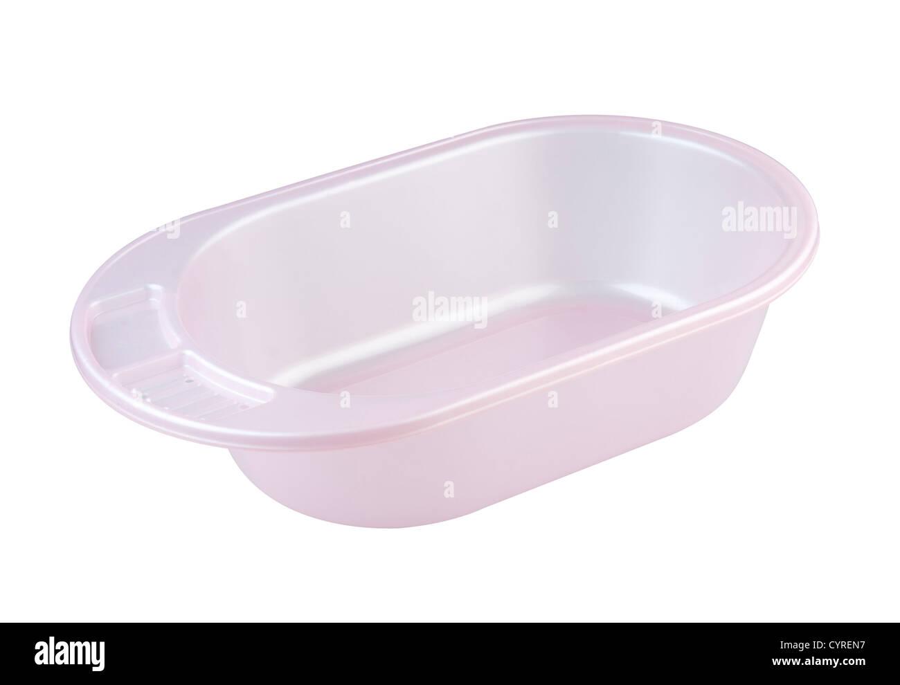 Empty and blank baby bathtub isolates on white Stock Photo: 51532915 ...