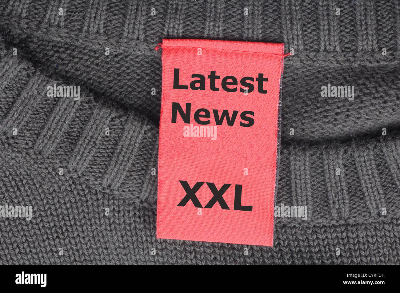 latest news xxl concept with label or tag - Stock Image