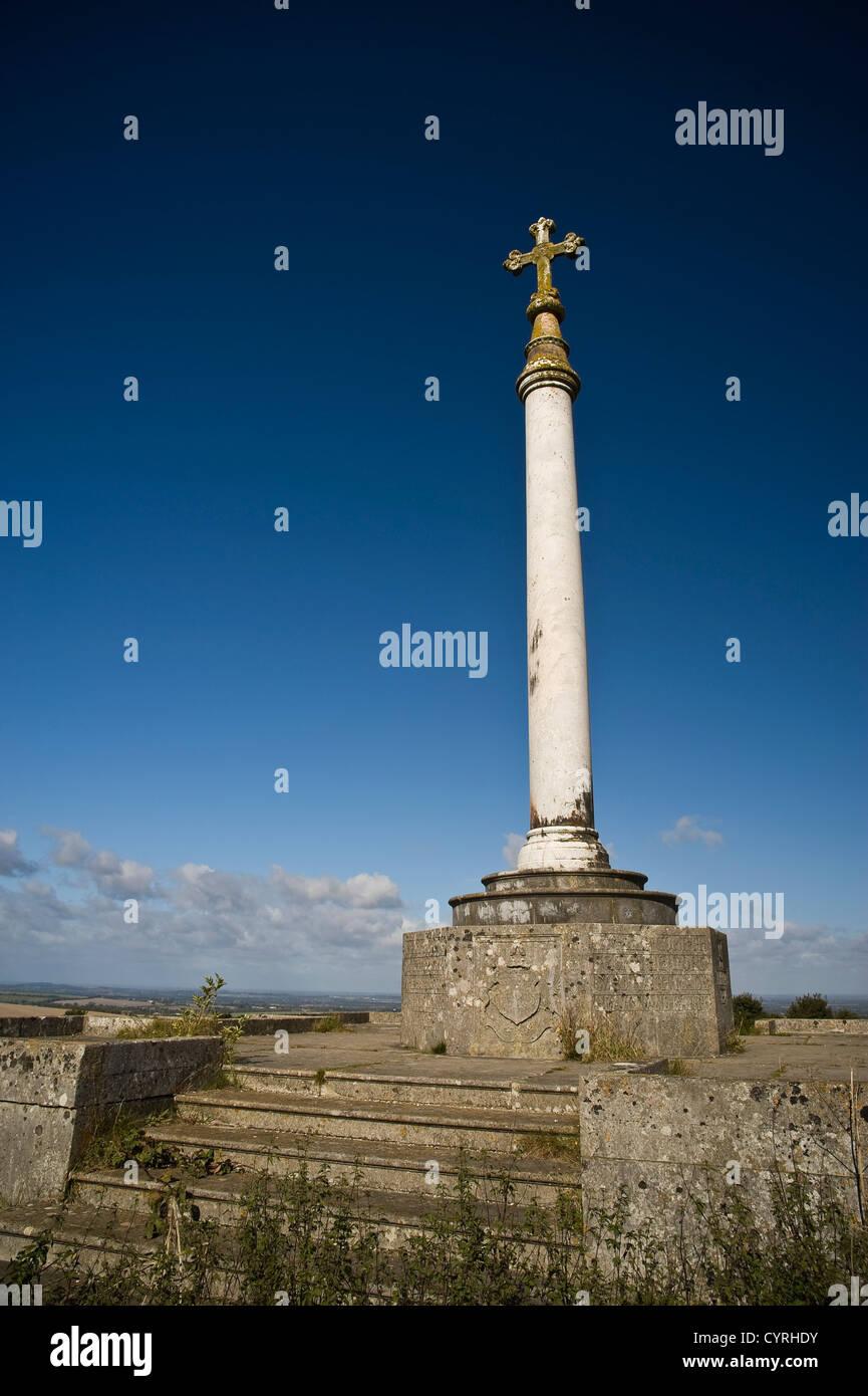 The Monument to Baron Wantage on the Ridgeway National Trail, Oxfordshire, UK - Stock Image