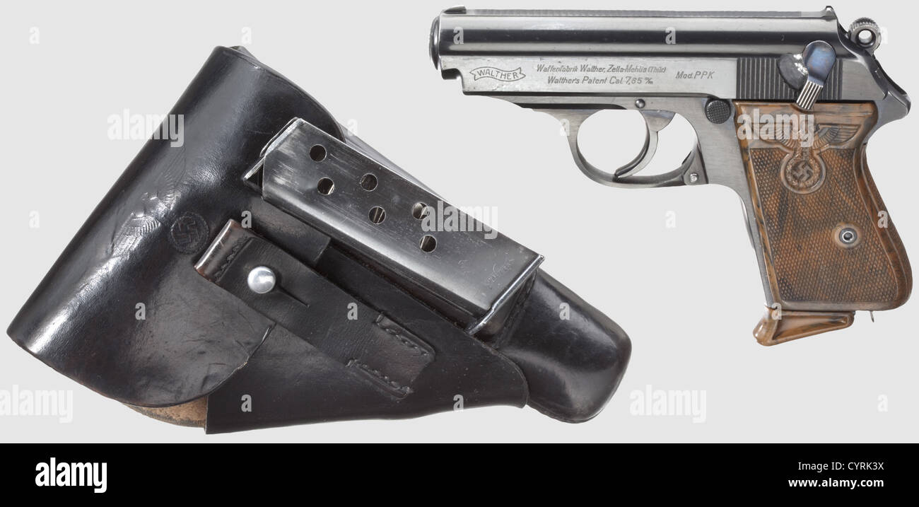 Walther PPK ZM, PL - 'Ehrenwaffe des Politischen Leiters' (honorary weapon of the political leader) with - Stock Image