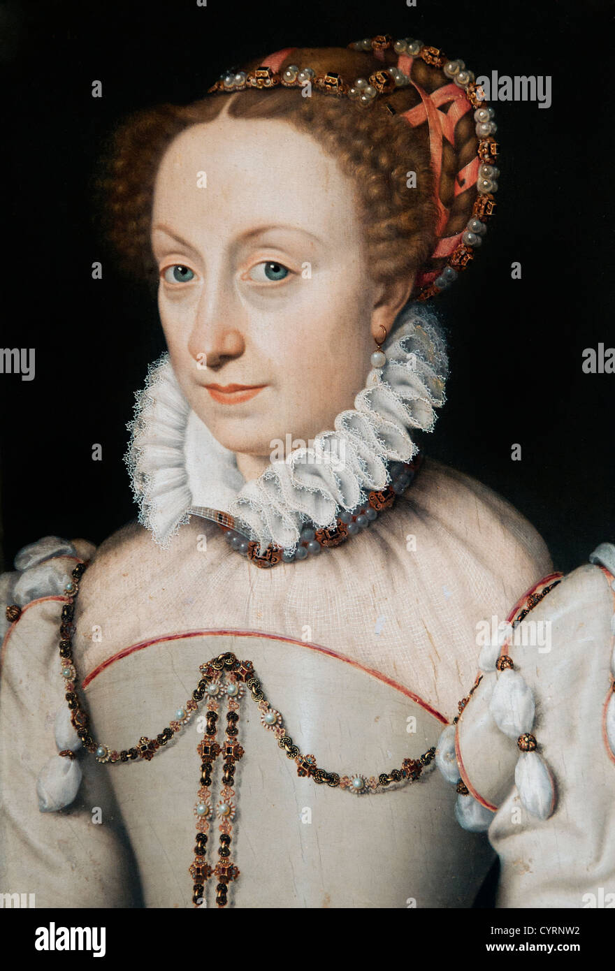 Joan - Jeanne III d'Albret 1528-72 Queen of Navarre  Spain Spanish 1570 Clouet, Francois 1510-72  France French Stock Photo
