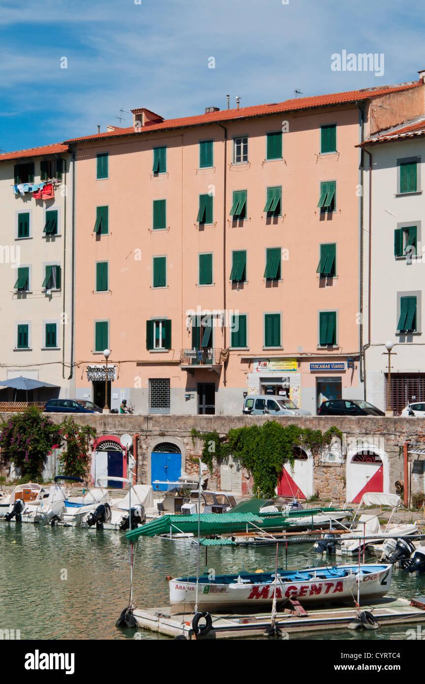 Venice district (Quartiere Venezia), Livorno, Tuscany, Italy - Stock Image
