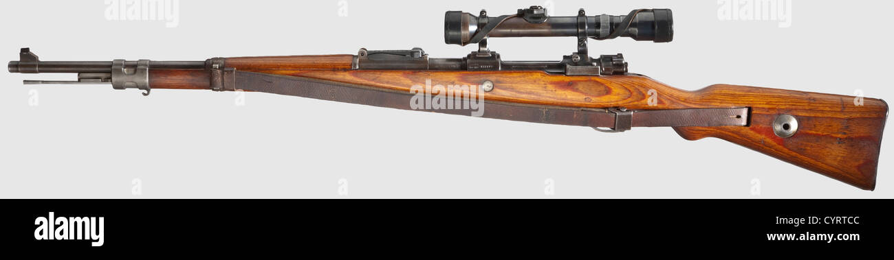 mauser 98 scope rifle with zf hensoldt waffen ss manufacturer used